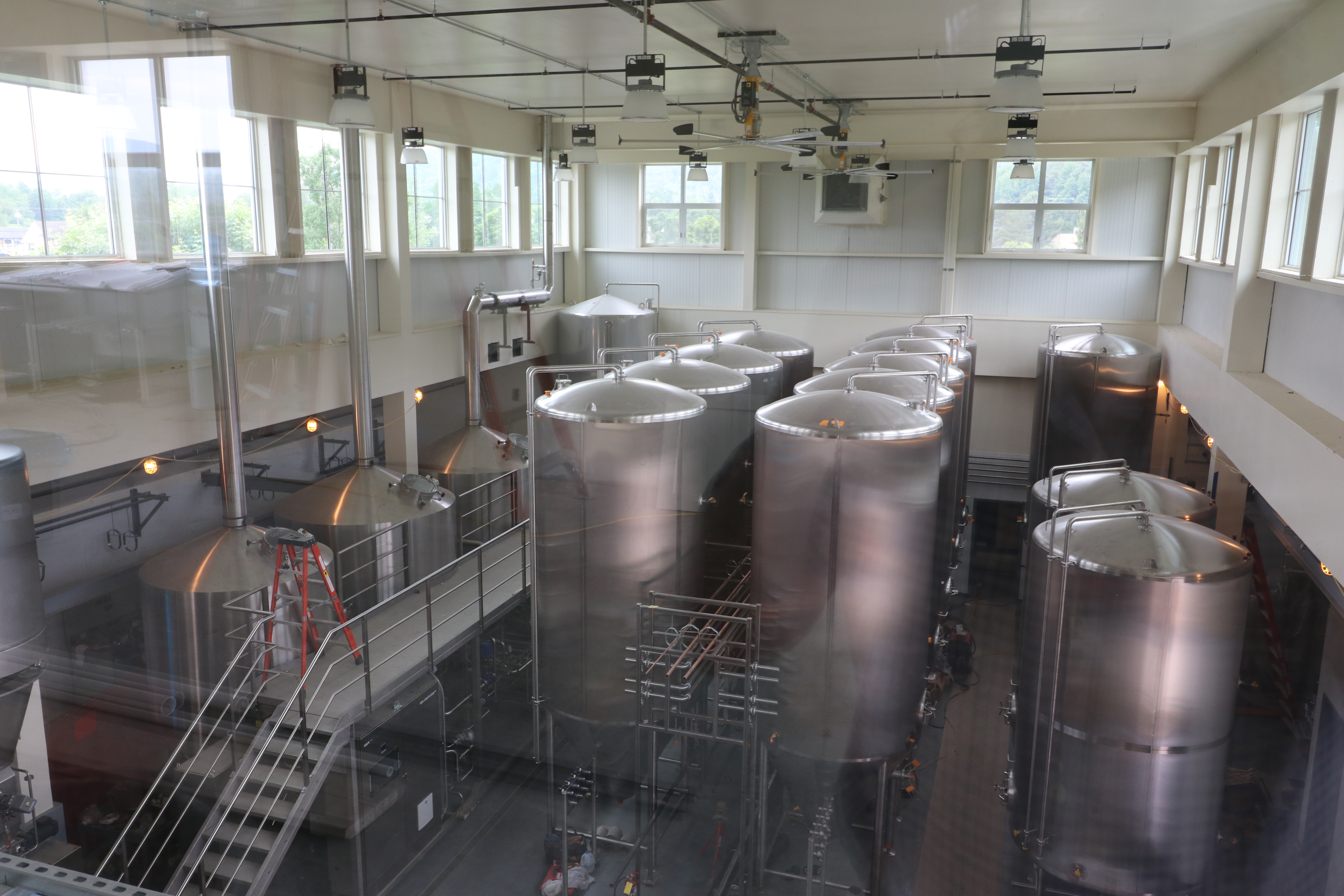 Brewery from balcony