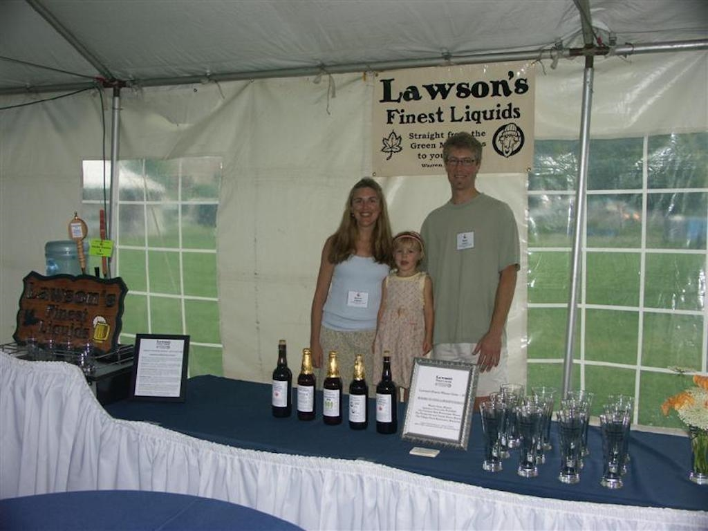 Sean Karen & Ava at the VT Brewer's Festival, 2008!