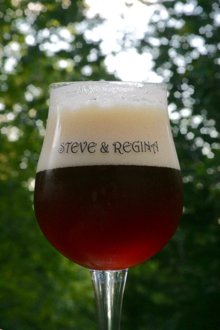 Steve and Regina glass